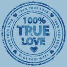 100% True Love Pink St. Valentine's Day Stamp by Andrei Verner