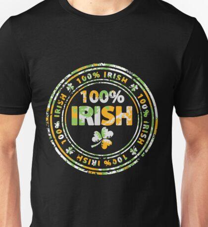 100% Irish St. Patric's Day Stamp Unisex T-Shirt
