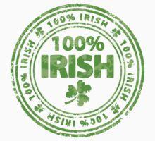 100% Irish St. Patric's Day Stamp Kids Clothes