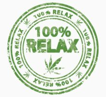 100% Relax Marijuana Stamp Kids Clothes