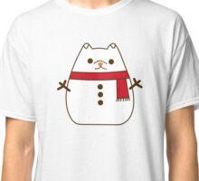 Cute Christmas Snowman Pupsheen Classic T-Shirt