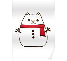 Cute Christmas Snowman Pupsheen Poster
