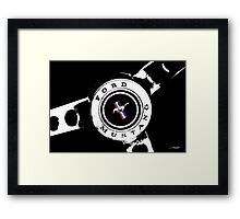 Classic Mustang, (Scroll down to view my other work) Framed Print
