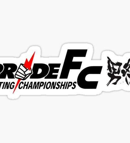 Pride Fighting Championships Japanese mixed martial arts. Sticker