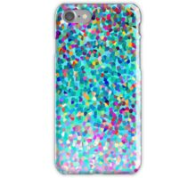 Aqua Blue Multicolored Abstract Art Shapes Pattern iPhone Case/Skin