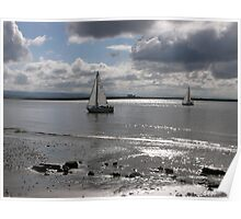 Yachts, Burnham-on-Sea. Poster