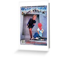 Old School Trasher Magazine Cover 3 Greeting Card