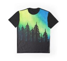 Aurora Borealis with Trees Graphic T-Shirt