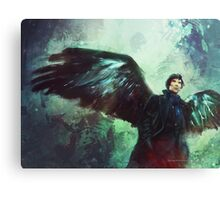 The Winged Detcetive. Canvas Print