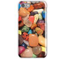 Polished gemstones rainbow colors  iPhone Case/Skin