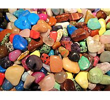 Polished gemstones rainbow colors  Photographic Print