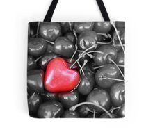 cherries with heart love Tote Bag