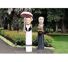 Old married couple sculptures Photographic Print
