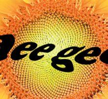 Dee Gee Sunflower Sticker