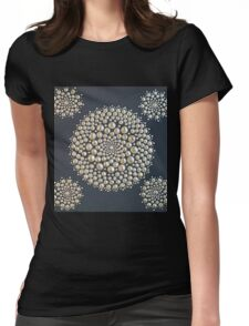 Black Gold Mandala Womens Fitted T-Shirt
