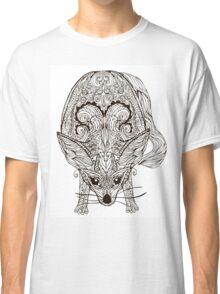 Zentangle vector fox or fennec Classic T-Shirt