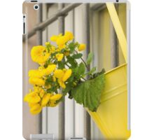 yellow flowers on the balcony iPad Case/Skin