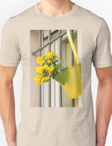 yellow flowers on the balcony Unisex T-Shirt
