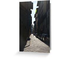 Florence street scene Greeting Card