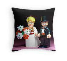 Lego Bride and Groom ( with top hat ) Throw Pillow