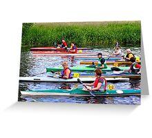 Burton Canoe Race, The Start Greeting Card