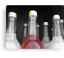 SELECTIVELY COLOURED BOTTLE Canvas Print