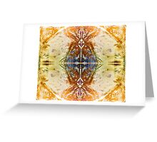Gorgeous Cross in Golden Copper Blue  Greeting Card