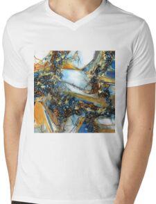 Agate Geode Square Mens V-Neck T-Shirt