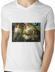 White Eucalypt Flower Mens V-Neck T-Shirt
