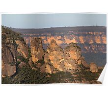 The Three Sisters from Eagle Hawke Lookout NSW Poster