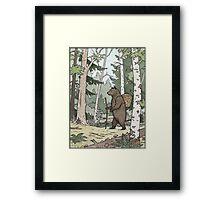 Bear in the Woods Framed Print
