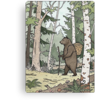 Bear in the Woods Canvas Print