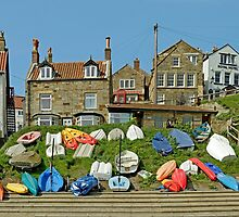 Dinghy Park, Runswick Bay by Rod Johnson