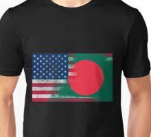 Bangladeshi American Half Bangladesh Half America Flag  Unisex T-Shirt
