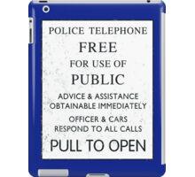 Tardis door sign iPad Case/Skin
