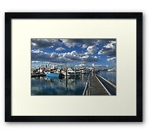 Walkway into the sea-HDR Framed Print