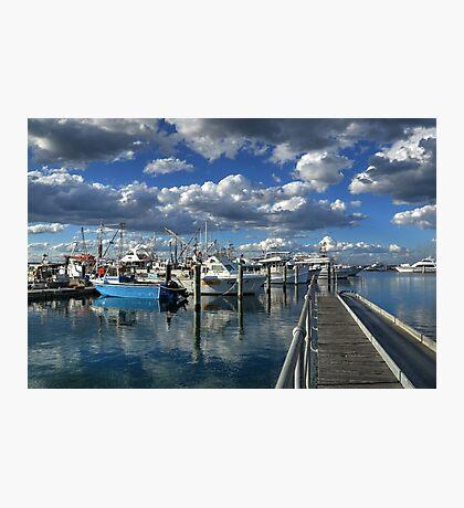 Walkway into the sea-HDR Photographic Print
