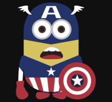 Captain America Minions Funny by Goes4