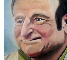 Robin Williams portrait by nategradyart