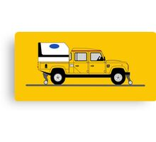 A Graphical Interpretation of the Defender 130 Double Cab High Capacity Pick Up Road Rail Vehicle Canvas Print