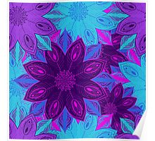Floral mandala pattern Poster