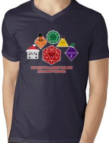 Polyhedral Pals - Merry CritMiss! Mens V-Neck T-Shirt