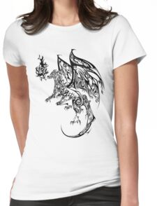Tribal Dragon Womens Fitted T-Shirt