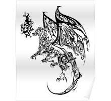 Tribal Dragon Poster
