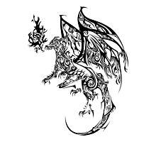 Tribal Dragon Photographic Print