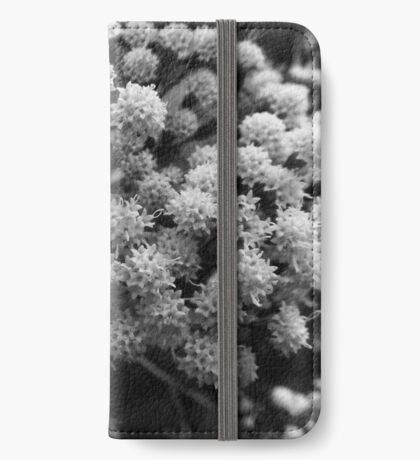 Wildflower Study in Black and White iPhone Wallet/Case/Skin