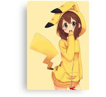 K-ON x Pikachu Canvas Print