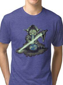"""Yoda - """"Lightsabor Bong"""" Tri-blend T-Shirt"""