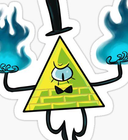 Bill Cipher - Burn Sticker