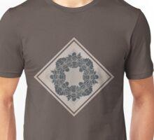 Dark and Light Symmetric Flowers Unisex T-Shirt